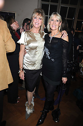 Left to right, PATTI BOYD and INGRID TARRANT at the launch party of Ingrid Seward's new book 'William & Harry - The People's Princes' held at 47 Hornton Court West, London W8 on 7th October 2008.
