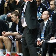 Besiktas's coach Ergin ATAMAN during their Turkish Basketball league derby match Besiktas between Efes Pilsen at the BJK Akatlar Arena in Istanbul Turkey on Saturday 30 April 2011. Photo by TURKPIX