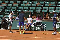 May 26, 2017 - Paris, France, France - Rafael Nadal (FRA) et Toni Nadal ( entraineur coach ) et Carlos Moya  (Credit Image: © Panoramic via ZUMA Press)