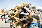 """Pacific Gas and Electric Company (PG&E) and General Electric (GE) have teamed up to produce in-line inspection tools called Smart Pigs to increase Bay Area gas pipeline safety.  The Smart Pigs come in two sizes, measuring up to 14 feet long, 30"""" in diameter, and weighing nearly 2,000 pounds.  They contain a series of electronics and magnets, which inspect underground gas pipelines for internal and external wear and damage and then relay GPS information to PG&E technicians.  The Smart Pig project is scheduled to inspect up to 206 miles of Bay Area gas pipeline in 2012.  Photo by Stan Olszewski/SOSKIphoto."""