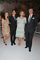 Left to right, FRANCOIS &  LIUDMILA LE TROQUER and ARNAUD & CARLA BAMBERGER at a dinner hosted by Cartier following the following the opening of the Chelsea Flower Show 2012 held at Battersea Power Station, London on 21st May 2012.