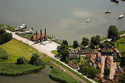 Nederland, Noord-Holland, Enkhuizen, 14-07-2008; in de voorgrond het Zuiderzeemuseum met kalkovens, palingrokerij); naast het museum de jachthaven; ambacht, ambachten, museumpark. .luchtfoto (toeslag); aerial photo (additional fee required); .foto Siebe Swart / photo Siebe Swart