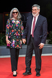 Deborah Nadoolman Landis and John Landis arriving for the premiere of Michael Jackson's Thriller 3D as part of the 74th Venice International Film Festival (Mostra) in Venice, Italy, on September 4, 2017. Photo by Marco Piovanotto/ABACAPRESS.COM