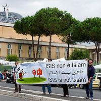 Manifestazione  contro  ISIS a Roma