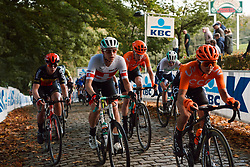 Sara Poidevin (CAN) at the 2020 Gent Wevelgem - Elite Women, a 141.4 km road race from Ieper to Wevelgem, Belgium on October 11, 2020. Photo by Sean Robinson/velofocus.com