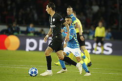 PSG's Angel Di Maria during the Group stage of the Champion's League, Paris-St-Germain vs Napoli in Parc des Princes, Paris, France, on October 24th, 2018. PSG and Napoli drew 2-2. Photo by Henri Szwarc/ABACAPRESS.COM
