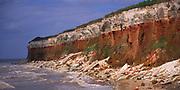 AE2KR4 Cliffs of striped sedimentary rock at Hunstanton Norfolk England