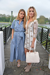 Left to right, IRENE FORTE and CAGGIE DUNLOP at a party to launch the Taylor Morris Explorer Collection held at the Serpentine Lido, Hyde Park, London on 11th May 2016.
