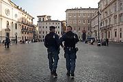 Operazioni di controllo della Polizia di Stato in Piazza Navona. Roma 16 Novembre 2015. Daniele Stefanini per L'Espresso / OneShot