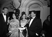 Le Bal des Petits Lits Blancs at Powerscourt, Co. Wicklow. Eamon and Mrs. Andrews, Fred and Mrs. O'Donovan..04.07.1965