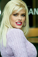 Anna Nicole Smith outside of Harry Winston's in Beverly Hills..Anti-fur campaign for PETA..Beverly Hills, CA...