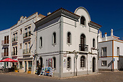 Historic street and buildings in town centre of Tavira, Algarve, Portugal, Southern Europe