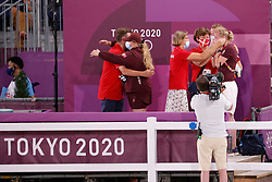Kiss and Cry, Team Denmark<br /> Olympic Games Tokyo 2021<br /> © Hippo Foto - Dirk Caremans<br /> 24/07/2021