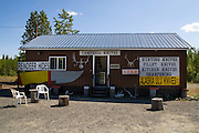 Walt and Connie's Knife Shop, Sterling, Alaska. Out of the forest onto to the plains of the Kenai Peninsula, you can find this store selling knives. . Walt and Connie Campbell's Knife Shop