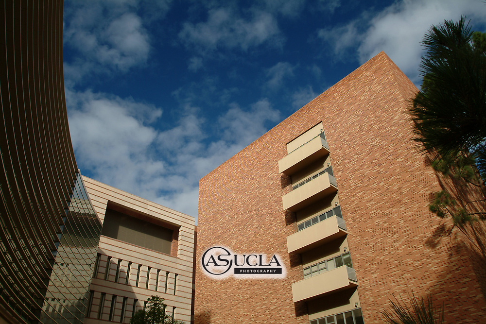ASUCLA Photography Archive -  Exterior image of the UCLA Neuroscience Research Building (NRB), part of the Semel Institute, UCLA Campus. University of California Los Angeles, Westwood, California.<br /> <br /> Copyright: ASUCLA