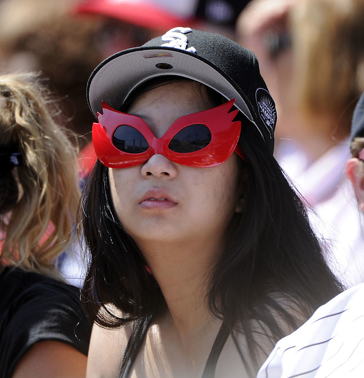 CHICAGO, IL - JUNE 26:  A White Sox fan looks on during the game between the Chicago White Sox and Washington Nationals on June 26, 2011 at U.S. Cellular Field in Chicago, Illinois.  The Nationals defeated the White Sox 2-1.  (Photo by Ron Vesely/MLB Photos via Getty Images)