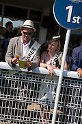 GRAHAM JONES; CHLOE WORT, Glorious Goodwood. Thursday.  Sussex. 3 August 2013