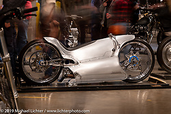 Bryan Fuller of Fuller Moto worked with Bobby Haas (Bobby Haas Museum) to come up with this  concept interpretation of what a 2029 version of the 1929 Majestic would look like. Bryan Fuller built this bike utilizing a Zero electric powertrain and 3d printed parts. On display at the Handbuilt Show. Austin, Austin USA. Sunday, April 14, 2019. Photography ©2019 Michael Lichter.