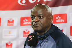 Dan Malesela, Head Coach, of Chippa United during the 2016 Premier Soccer League match between Chippa United and Platinum Stars held at the Nelson Mandela Bay Stadium in Port Elizabeth, South Africa on the 28th October 2016<br /><br />Photo by:   Richard Huggard / Real Time Images