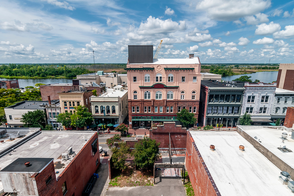 View of Front Street in Downtown Wilmington, North Carolina on Friday, August 13, 2021. Copyright 2021 Jason Barnette