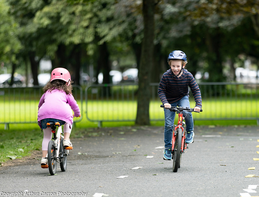 NO FEE PICTURES<br />12/9/21 Luca Soro, age 5, Fairview, pictured at 'Pedalpalooza', a free multi-activity event celebrating all aspects of cycling through workshops, entertaining talks and fun activities. Organised by Dublin City Council at Fairview Park in Dublin. Pictures: Arthur Carron
