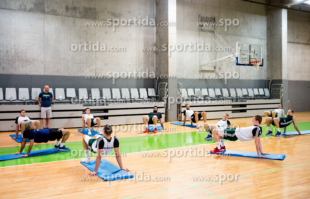 Practice session of Slovenian National basketball team before FIBA Basketball World Cup China 2019 Qualifications against Belarus, on November 20, 2017 in Arena Stozice, Ljubljana, Slovenia. Photo by Vid Ponikvar / Sportida