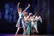 """Tiler Peck performs as Young Marie van Goethem during """"The Little Dancer Ballet"""" in Little Dancer at the Kennedy Center in Washington, D.C. This is a world premiere Kennedy Center produced production that is directed and choreographed by Susan Stroman, book and lyrics by Lynn Ahrens, and music by Stephen Flaherty."""