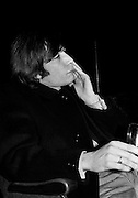 The Rolling Stones Charlie is my Darling - Ireland 1965. Charlie Watts strikes a thoughtful pose at The Rolling Stones press conference at the Adelphi Theatre, Middle Abbey Street, Dublin. This was the band's first Irish tour of 1965....07/01/1965.01/07/1965.07 January 1965. Anniversary gifts of Limited Edition Prints of Charlie Watts,  The Rolling Stones, Charlie is my Darling, Ireland 1965.  <br />