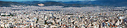 Wide sweeping panoramic view of Athens, Greece