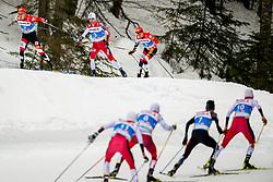 February 22, 2019 - Seefeld In Tirol, AUSTRIA - 190222 Mario Seidl of Austria, Jan Schmid of Norway and Franz-Josef Rehrl of Austria compete in men's nordic combined 10 km Individual Gundersen during the FIS Nordic World Ski Championships on February 22, 2019 in Seefeld in Tirol..Photo: Vegard Wivestad GrÂ¿tt / BILDBYRN / kod VG / 170288 (Credit Image: © Vegard Wivestad Gr¯Tt/Bildbyran via ZUMA Press)