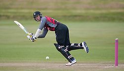 Somerset's Adam Hose plays into the legside.  - Mandatory byline: Alex Davidson/JMP - 24/03/2016 - CRICKET - Taunton Vale CC - Taunton , England - Somerset v Gloucestershire -  Pre Season