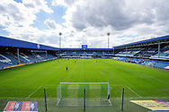 General view of play, empty stands with no fans, during the EFL Sky Bet Championship match between Queens Park Rangers and Barnsley at the Kiyan Prince Foundation Stadium, London, England on 20 June 2020.