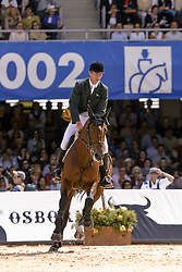 Lennon Dermott (IRL)  - Dollar Du Murier HTS De Seine<br /> Jumping final<br /> World Equestrian Games Jerez de la Fronteira 2002<br /> Photo © Dirk Caremans