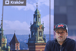 December 8, 2017 - Krakow, Poland - Alex Salvini, an Italian motorcycle rider, specialized in enduro and motocross, and former the E2 World Enduro Champion, during a press conference ahead of the Krakow's leg of the FIM SuperEnduro World Championship 2018 in Tauron Arena...On Friday, December 8, 2017, in Krakow, Poland. (Credit Image: © Artur Widak/NurPhoto via ZUMA Press)