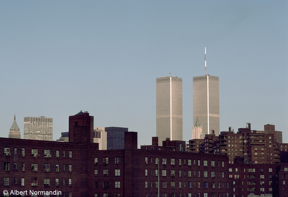 World Trade Center and Lower East Side, New York City, New York, USA, July 1982