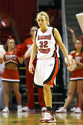 08 March 2008: Maggie Krick. The University of Evansville Purple Aces and the Illinois State University Redbirds took the court looking for the MVC season title, but the Redbird win (87-72) split the title.  The game was played on Doug Collins Court in Redbird Arena in Normal Illinois.