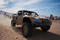 Jesse James trophy truck arrives at finish of 2011 San Felipe Baja 250
