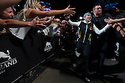 LAS VEGAS, NV - JULY 8:  Claudia Gadelha walks to the Octagon during The Ultimate Fighter Finale at MGM Grand Garden Arena on July 8, 2016 in Las Vegas, Nevada. (Photo by Cooper Neill/Zuffa LLC/Zuffa LLC via Getty Images) *** Local Caption *** Claudia Gadelha
