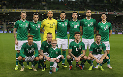 Republic of Ireland team during the International Friendly at The Aviva Stadium, Dublin. PRESS ASSOCIATION Photo. Picture date: Thursday November 15, 2018. See PA story SOCCER Republic. Photo credit should read: Lorraine O'Sullivan/PA Wire.