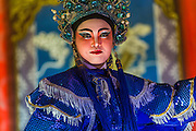 09 FEBRUARY 2014 - HAT YAI, SONGKHLA, THAILAND: Chinese opera performed at the street fair during Lunar New Year in Hat Yai. Hat Yai was originally settled by Chinese immigrants and still has a large ethnic Chinese population. Chinese holidays, especially Lunar New Year (Tet) and the Vegetarian Festival are important citywide holidays.     PHOTO BY JACK KURTZ