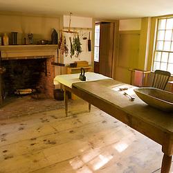 The kitchen at the Frankiln Pierce Homestead in Hillsborough, New Hampshire.