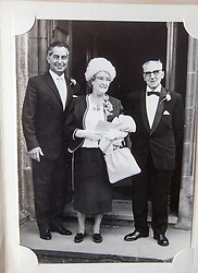 Pic of David's dad, James Buchanan McAllister, with his mum and dad..COLLECT PICS from the half-Scottish Prime Minister David McAllister of Lower Saxony..©Michael Schofield.
