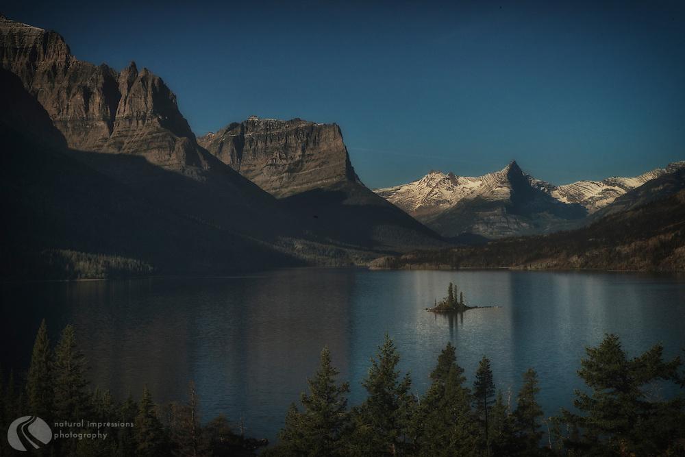 Glacier National Park; Goose Island in Two Medicine Lake