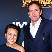 NLD/Amsterdam/20180425 - Première The Avengers: Infinity War, Lavinia Meijer en partner ............