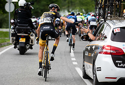 Dylan HOPKINS of LJUBLJANA GUSTO SANTIC during 2nd Stage of 27th Tour of Slovenia 2021 cycling race between Zalec and Celje (147 km), on June 10, 2021 in Slovenia. Photo by Vid Ponikvar / Sportida