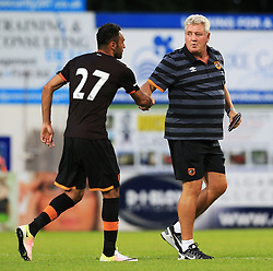 Hull City manager Steve Bruce shakes hands with Ahmed Elmohamady at full time - Mandatory by-line: Matt McNulty/JMP - 19/07/2016 - FOOTBALL - One Call Stadium - Mansfield, England - Mansfield Town v Hull City - Pre-season friendly