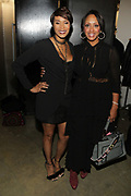 """NEW YORK, NEW YORK-FEBRUARY 13: (L-R) Designer Aisha McShaw and Malaak Compton attend """" CAPTURED"""" the Fall/Winter Collection 2019 presented by Designer Aisha McShaw during New York Fashion Week and held at the Gallery at Prince George Ballroom on February 11, 2019 in New York City.  (Photo by Terrence Jennings/terrencejennings.com)"""