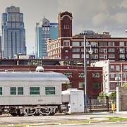 Antique train behind Kansas City's Union Station