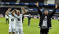 Fotball <br /> UEFA Europa League Qualification<br /> 23.07.2015<br /> Rosenborg v KR Reykjavik<br /> Foto: Tor Inge Langberg/Digitalsport<br /> <br /> RBK jubler for avansement<br /> Alexander Søderlund (R)