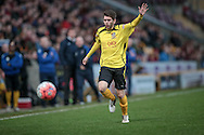 Dave Pearce (Chesham) appeals for a corner as the ball heads over the byline during the The FA Cup match between Bradford City and Chesham FC at the Coral Windows Stadium, Bradford, England on 6 December 2015. Photo by Mark P Doherty.